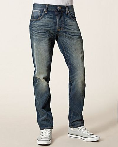 Sharp Bengt Org Rough Selvedge Nudie Jeans straight leg jeans till herr.