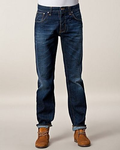 Sharp Bengt Rough Twill Nudie Jeans straight leg jeans till herr.