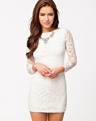 Club L Sheer Lace Back Bodycon Dress