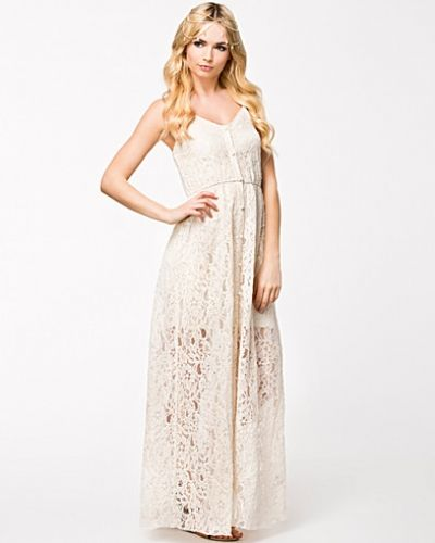 Sheer Lace Button Front Maxi Dress Rare London studentklänning till tjejer.