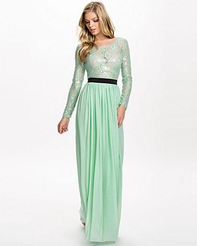 Rare London Sheer Sequin Lace Maxi Dress