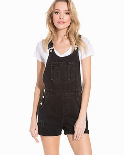 Topshop Short Denim Dungaree