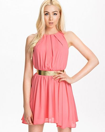 John Zack Short Gold Belt Dress