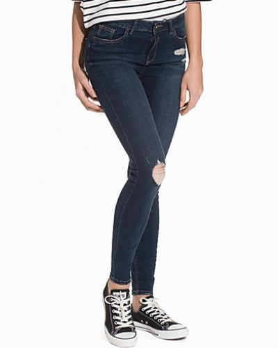 Slim fit jeans Skinny Busted Knee Jeans från New Look