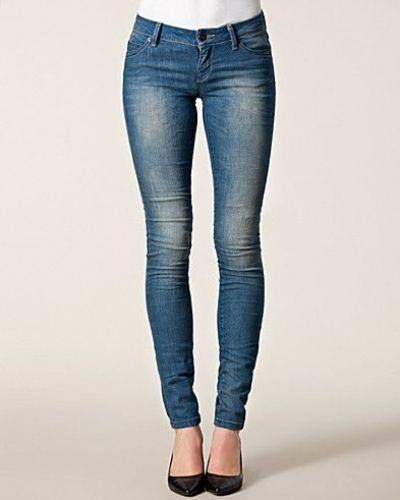 Slim fit jeans Skinny Low Coral REA1900 från ONLY