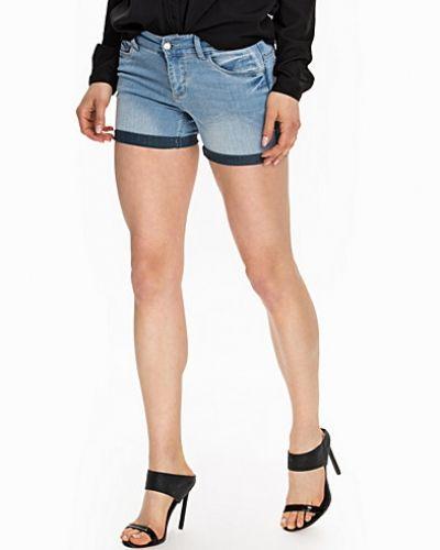 Jacqueline de Yong Skinny Low Lt Blue Shorts
