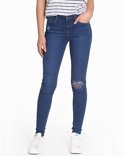 New Look Skinny Rip Whiskey Jeans