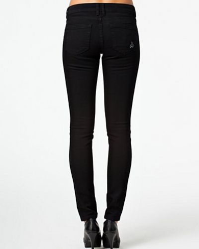 Slim Fit Black Jeans d. Brand slim fit jeans till dam.