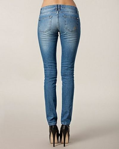 Slim Fit Ripped Light Blue d. Brand slim fit jeans till dam.