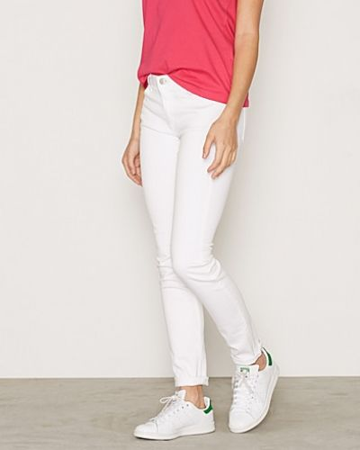 Slim White Denim Jean Gant slim fit jeans till dam.