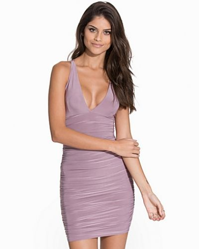 NLY One Slinky Ruched Plunge Dress