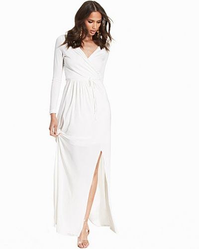Club L Essentials Slinky Wrap Over Maxi Dress