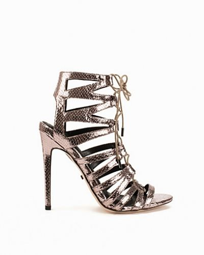 Topshop Snake-Effect Ghillie Sandals