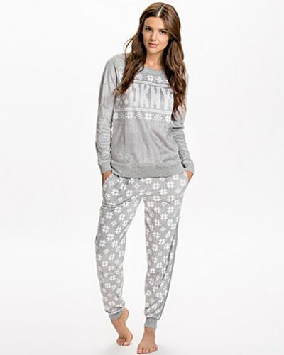 DKNY Lounge Wear Snow Day Top&Pant Set