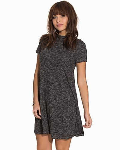 New Look Spacedye Rib Funnel Tunic