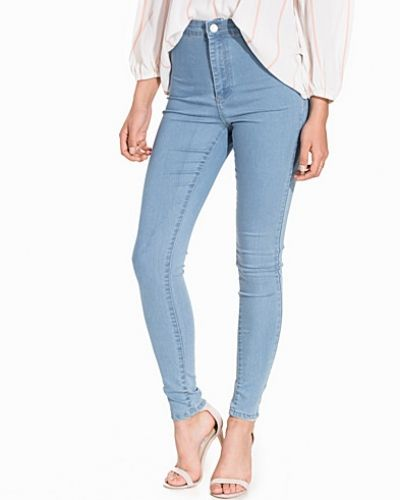 Miss Selfridge Steffi Cloud Blue Super High Waist Jeans