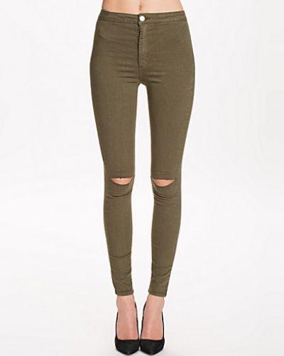 Till dam från Miss Selfridge, en grön slim fit jeans.