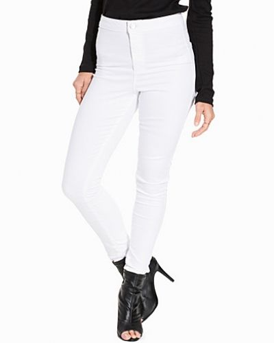 Steffi White Super High Waist Jeans Miss Selfridge slim fit jeans till dam.