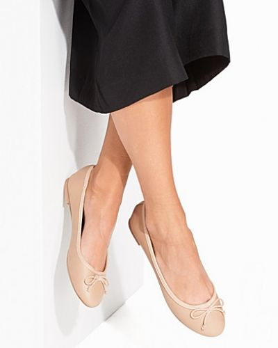 New Look Stone Faux Leather Ballet Pumps
