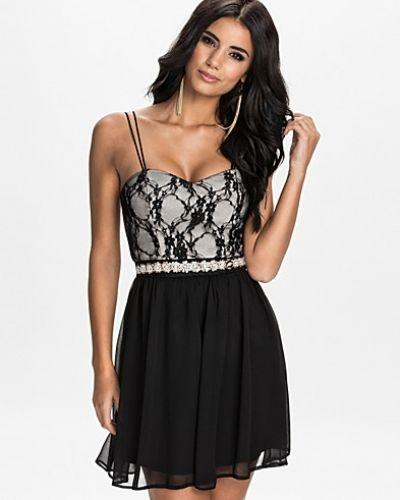 Elise Ryan Strap Embellished Waist Dress