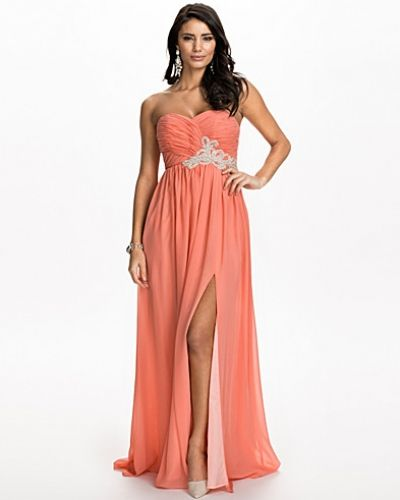 Nly Eve Strapless Tie Back Dress