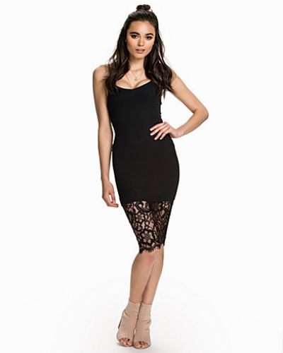 New Look Strappy Rib Lace Midi