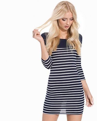 New Look Stripe 3/4 Sleeve Bodycon Mini Dress