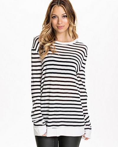 T By Alexander Wang Stripe Rayon Linen Long Shirt