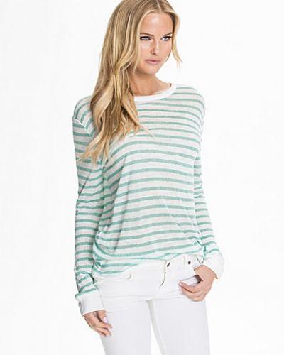 Stickade tröja Stripe Rayon Linen Long Shirt från T By Alexander Wang