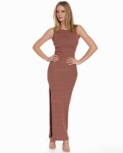 Club L Stripe Rib Tube Maxi Dress