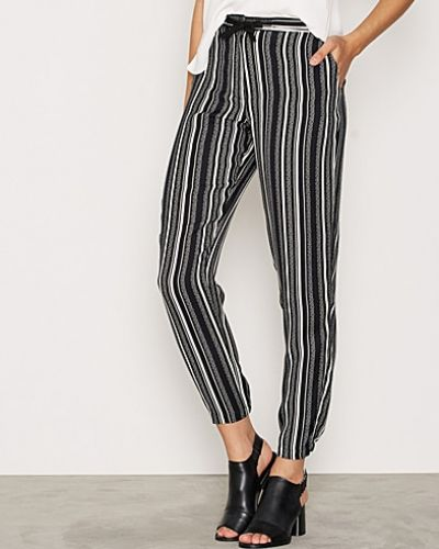 Topshop Striped Tapered Trousers