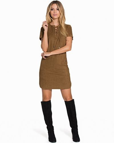 New Look Suede Lace Up Front Tunic
