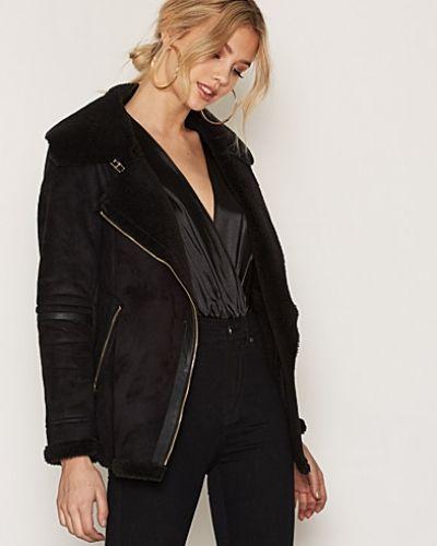 New Look Suedette Borg Lined Biker Jacket