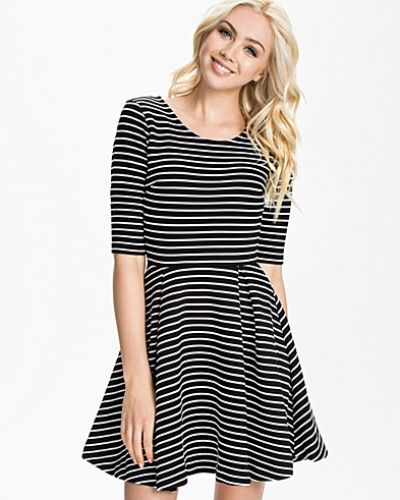 French Connection Suki Winter Stripe Roundneck Dress