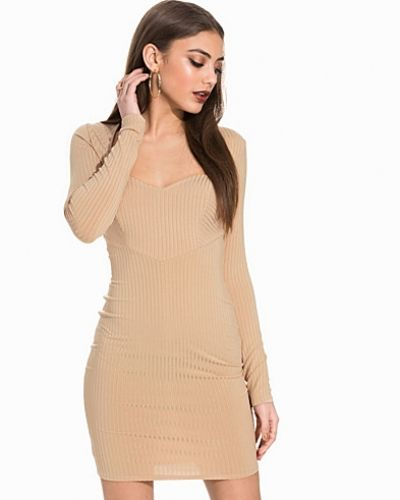 NLY Trend Sweetheart Rib Bodycon