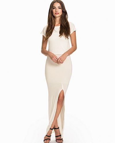 Club L Essentials T-Shirt Overlay Maxi Dress