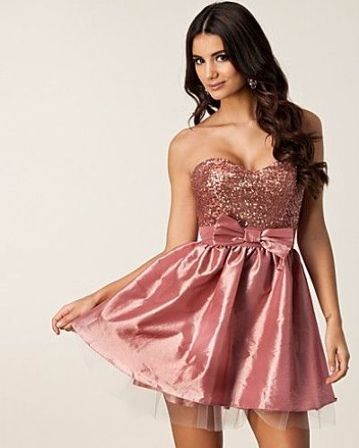 Elise Ryan Tafetta Bandeau Dress