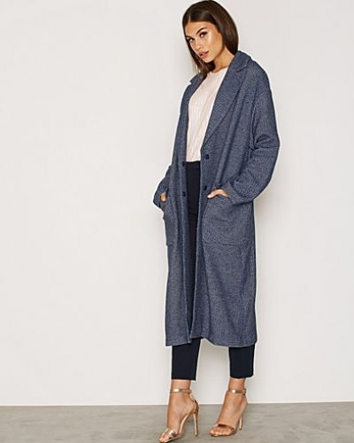 Topshop Textured Slouchy Denim Coat