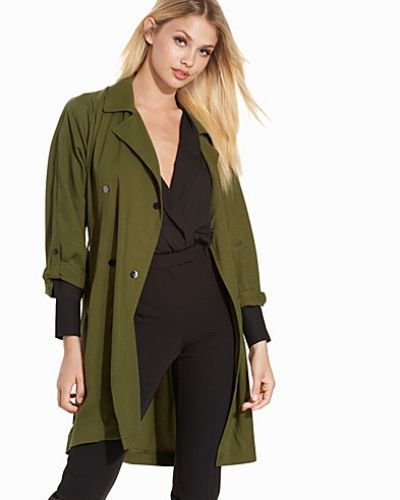 Topshop Textured Tencel Truster Coat