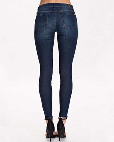 Blå slim fit jeans från 7 for all mankind till dam.
