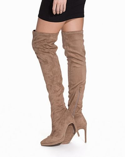 Högklackade Thigh High Boot från Nly Shoes