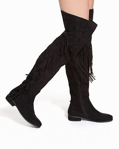 Känga Thigh High Fringe Boot från Nly Shoes