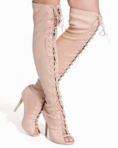 Nly Shoes Thigh High Lace Up Boot