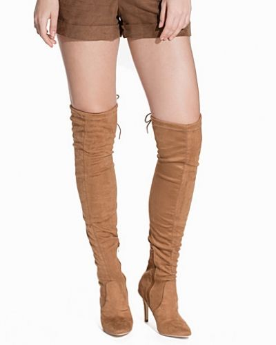 Nly Shoes Thigh High Stretchy Boot