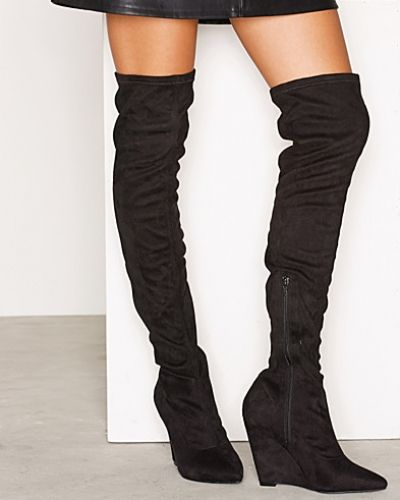 Högklackade Thigh High Wedge Boot från Nly Shoes
