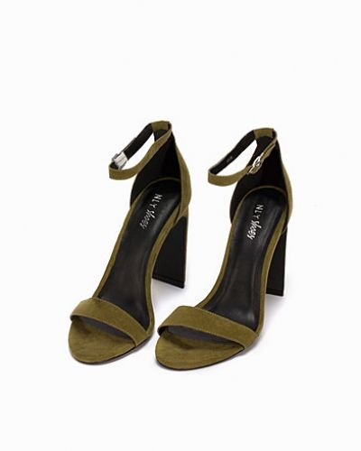 Nly Shoes Thin Block Heel Sandal