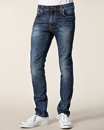 Thin Finn Organic Genuine Love Nudie Jeans straight leg jeans till herr.