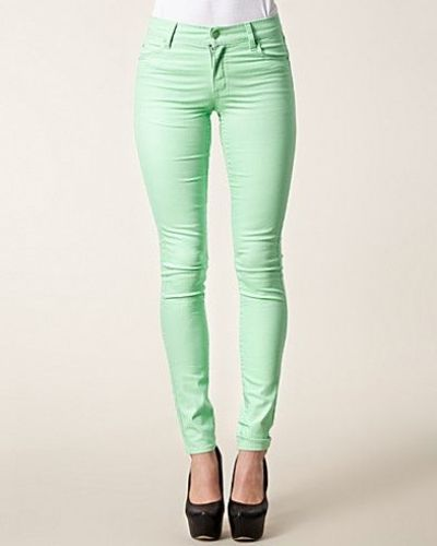 Tight Kiwi Green Cheap Monday slim fit jeans till dam.