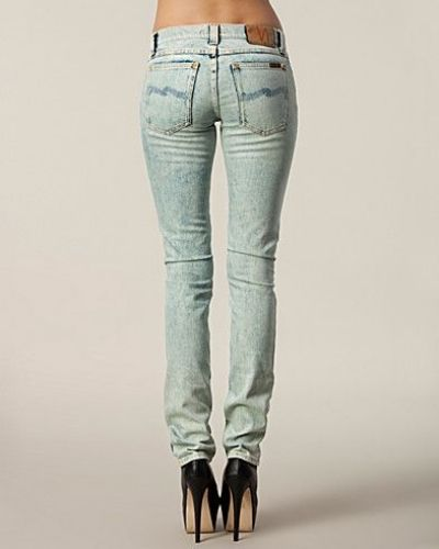 Tight Long John Green Rugs Nudie Jeans straight leg jeans till dam.