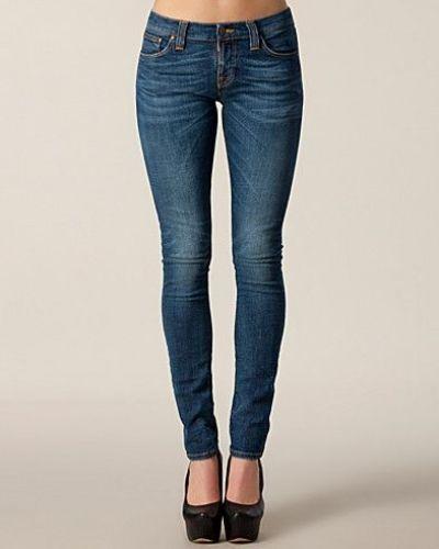 Blå slim fit jeans från Nudie Jeans till dam.